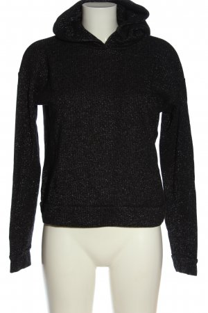 Pieces Hooded Sweatshirt black flecked casual look