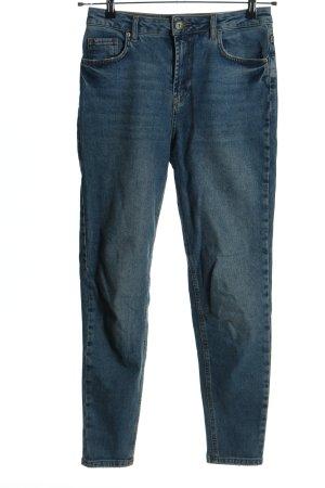 Pieces Jeans carotte bleu style décontracté