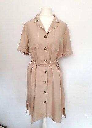 Pieces Kleid beige aus 100% Lyocell XS 34 S 36 M 38