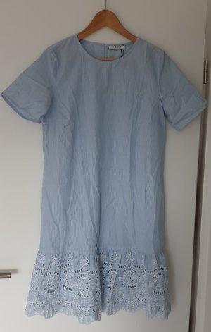 Pieces Kleid Tunika blau weiß 36/S *Neu mit Etikett*