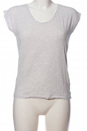 Pieces T-Shirt weiß-hellgrau Streifenmuster Casual-Look