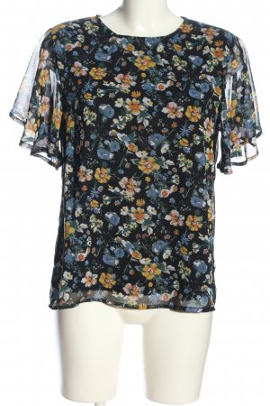 Pieces Kurzarm-Bluse Allover-Druck Business-Look