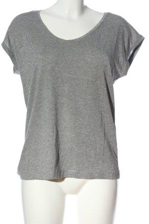 Pieces Kurzarm-Bluse silberfarben meliert Casual-Look