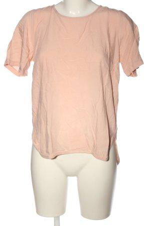 Pieces Kurzarm-Bluse pink Casual-Look