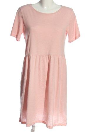 Pieces Robe à manches courtes rose style décontracté