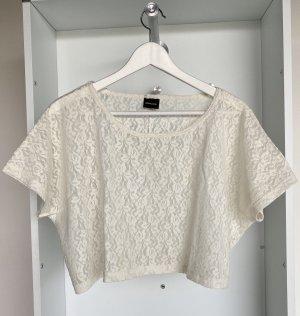 Pieces - Lace Top in Weiß (ungetragen)