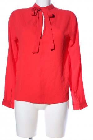 Pieces Langarm-Bluse rot Casual-Look