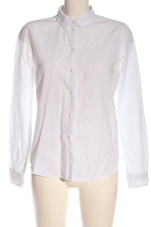 Pieces Camisa de manga larga blanco estilo «business»