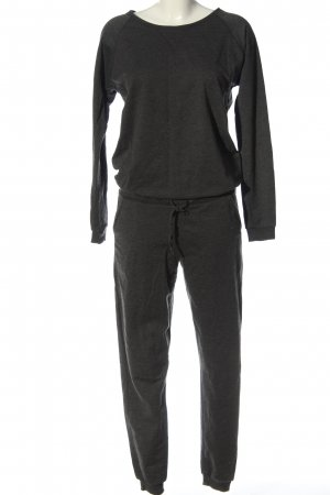 Pieces Langer Jumpsuit schwarz meliert Casual-Look