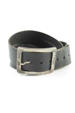 Pieces Cintura di pelle nero stile da moda di strada