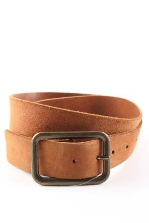 Pieces Cintura di pelle marrone stile casual