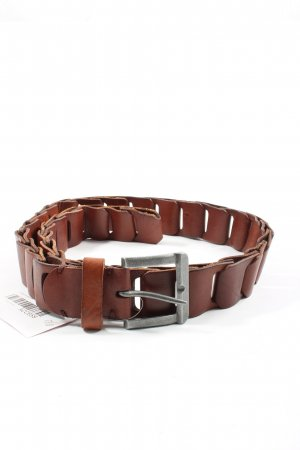 Pieces Leather Belt brown business style