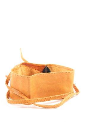 Pieces Cinturón de cuero de imitación amarillo pálido look casual