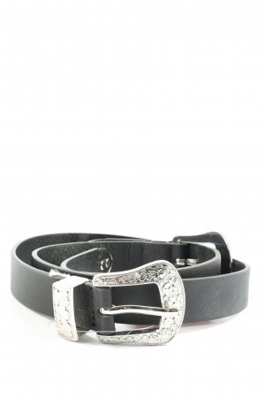 Pieces Faux Leather Belt black-silver-colored casual look