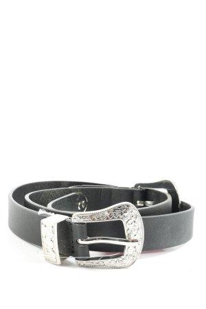 Pieces Cintura in ecopelle nero-argento stile casual