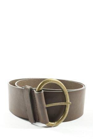Pieces Cinturón de cuero de imitación marrón look casual