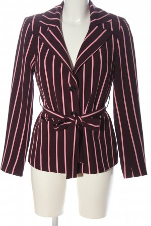 Pieces Blazer largo rojo-rosa estampado a rayas elegante