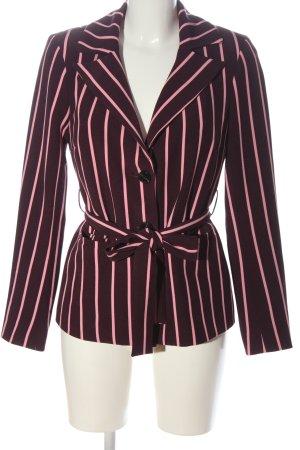 Pieces Lange blazer rood-roze gestreept patroon elegant