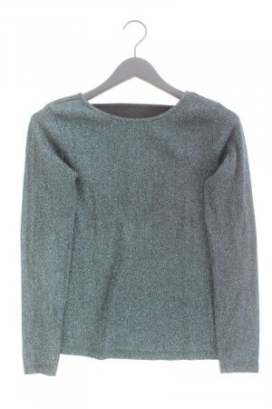 Pieces Longsleeve-Shirt Größe S Langarm mit Glitzer blau aus Viskose
