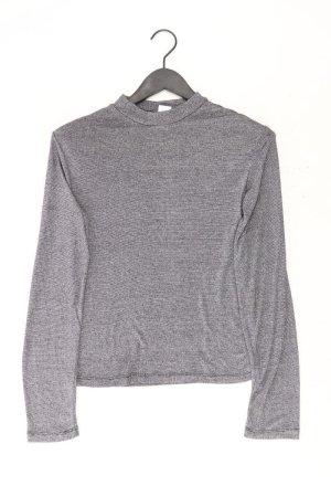 Pieces Longsleeve-Shirt Größe S Langarm mit Glitzer silber