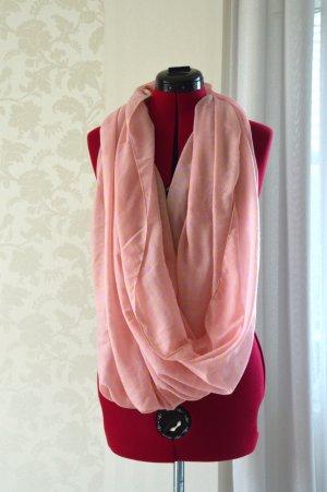 Pieces Foulard jaune primevère-rose clair coton