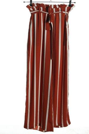 Pieces Marlene Dietrich broek rood-wolwit gestreept patroon casual uitstraling