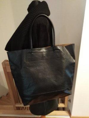 Pieces Borsa shopper nero Poliuretano