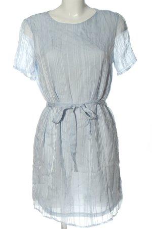 Pieces Sukienka mini niebieski Wzór w paski W stylu casual