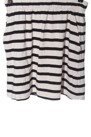 Pieces Minifalda blanco-negro estampado a rayas look casual