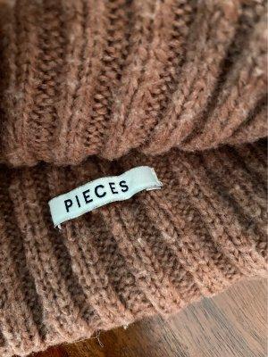 Pieces Cappello a maglia rosa antico