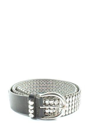 Pieces Cinturón de pinchos gris claro-color plata look casual