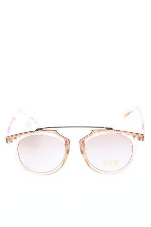 Pieces Panto Glasses cream casual look
