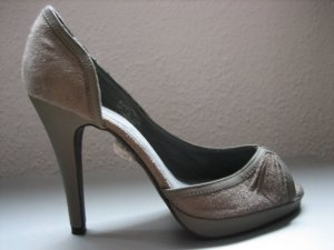 pieces peep toe pumps neu grau gr. 38