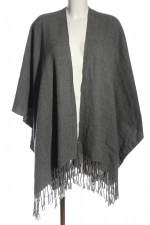 Pieces Poncho hellgrau Casual-Look