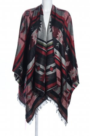 Pieces Poncho abstraktes Muster Casual-Look