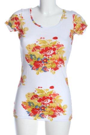 Pieces Print-Shirt Blumenmuster Casual-Look