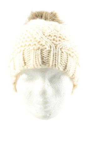 Pieces Cappello con pon pon bianco sporco modello web stile casual