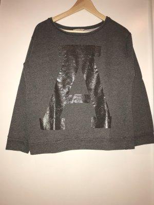 PIECES Pullover mit glänzendem A