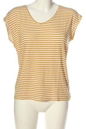 Pieces Koszulka w paski biały-bladożółty Wzór w paski W stylu casual