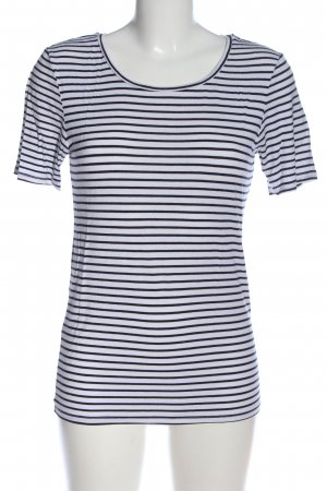 Pieces Stripe Shirt blue-white striped pattern casual look