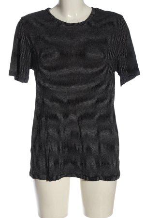 Pieces T-shirt rayé noir-blanc motif rayé élégant