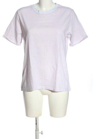 Pieces Koszulka w paski biały-różowy Na całej powierzchni W stylu casual