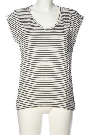 Pieces Ringelshirt weiß-schwarz Streifenmuster Casual-Look