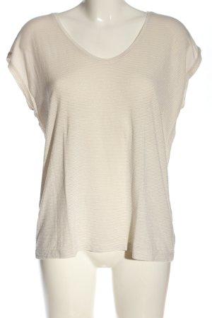 Pieces Camisa de rayas blanco puro-color oro estampado a rayas look casual