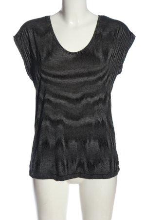 Pieces Camisa de rayas negro-blanco estampado repetido sobre toda la superficie