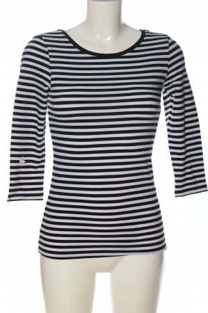 Pieces Stripe Shirt black-natural white striped pattern casual look