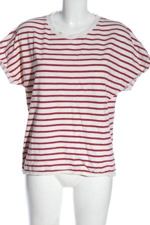 Pieces Chemise côtelée blanc-rouge imprimé allover style décontracté