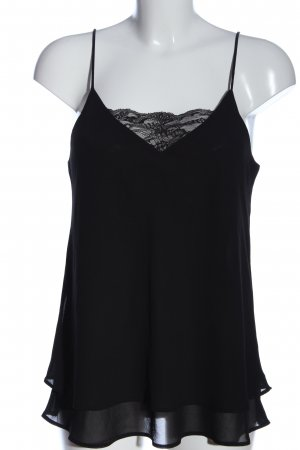 Pieces Frill Top black casual look