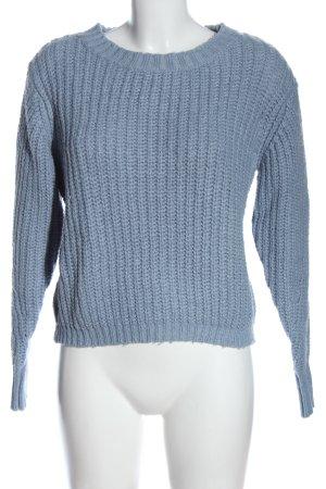 Pieces Maglione girocollo blu stile casual