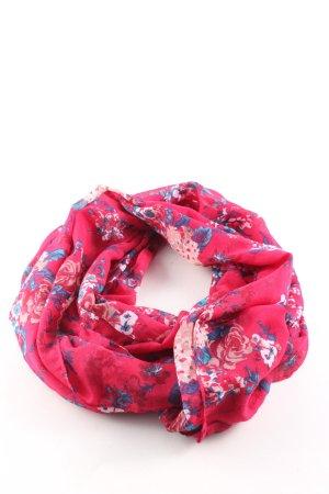 Pieces Rundschal pink Allover-Druck Business-Look